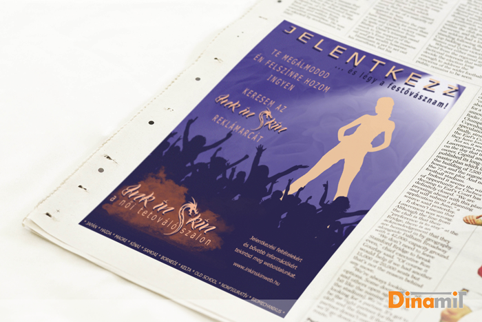 Ink in skin - szórólap, nyomtatott reklám